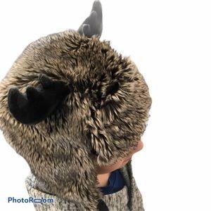 3/$30 Joe Fresh fake fur animal hat deer elk 4-5